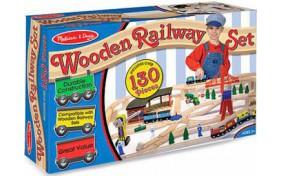 Деревянная железная дорога Melisa&Doug
