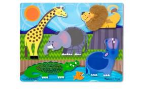"""Пазлы потрогай и почувствуй Melissa & Doug """"Зоопарк"""""""