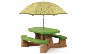 Столик для пикника с зонтиком Step2