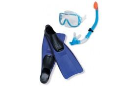 Набор для подводного плавания Intex World маска, трубка, ласты