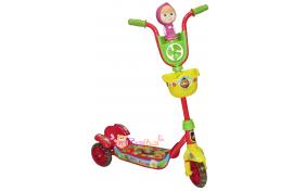 """Детский самокат """"Маша и Медведь"""" Disney - трехколёсный"""