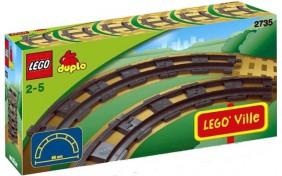 Закругленные рельсы Lego Duplo