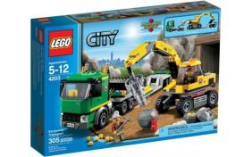 Экскаватор и транспортер Lego City