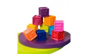 """Развивающие силиконовые кубики """"Посчитай-ка!"""" Battat"""