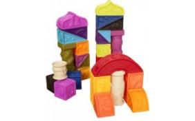 """Развивающие силиконовые кубики """"Построй-ка!"""" Battat"""