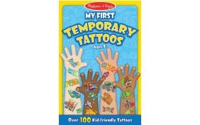 Мои первые временные татуировки - голубые Melissa & Doug