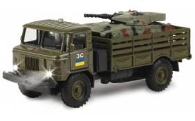 Игровой набор Технопарк - ГАЗ-66 военный с танком