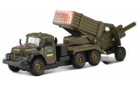 """Игровой набор Технопарк - ЗИЛ-131 """"Град"""" военный с пушкой"""