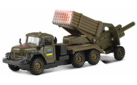 "Модель Технопарк - Военный ЗИЛ-131 ""Град"" с пушкой"