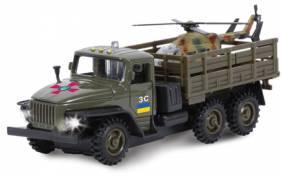 Модель Технопарк - Военный Урал с вертолетом