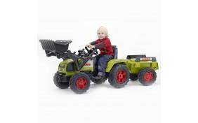 Трактор Falk с ковшом и прицепом