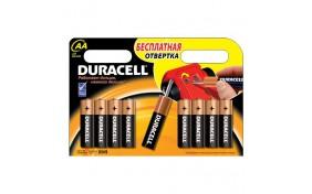 Батарейка Duracell (AA) LR-6 1500 NEW - 8 шт