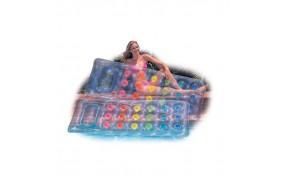 Надувной матрац Загар, прозрачный, ассорти 2 цвета - 188х71