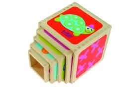 Пирамидка Маленькие-большие кубики 5шт. Boikido