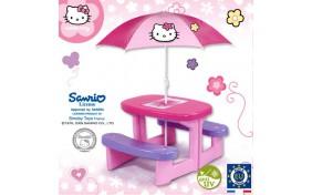 Столик для пикника с зонтиком Hello Kitty Smoby