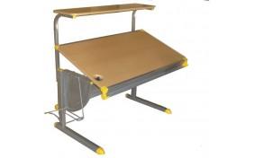 Стол с полкой для принтера или книг KD-1139 - серый каркас